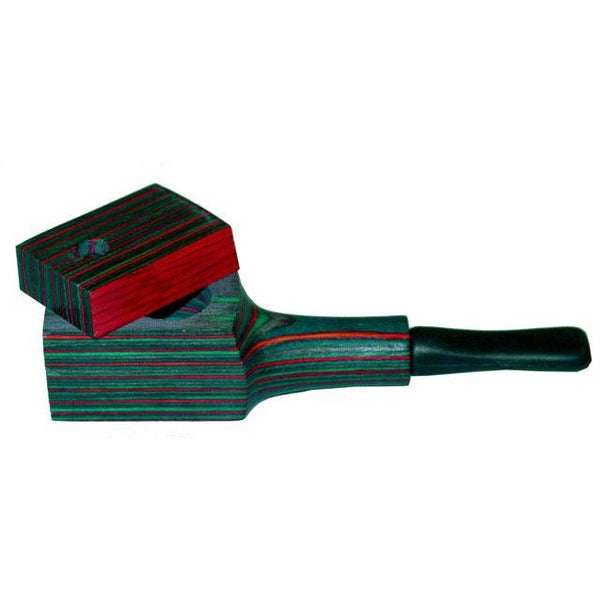 Lidded Exotic Wood Tobacco Pipe