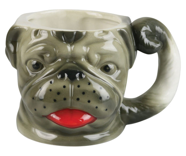 Large Pug Ceramic Mug - 20oz