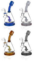 "Pulsar Lab Flask Rig Water Pipe - 8"" / 14mm  / Assorted Colors"