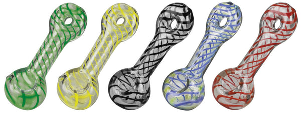 Pulsar UV Candy Stripe Donut Glass Pipes