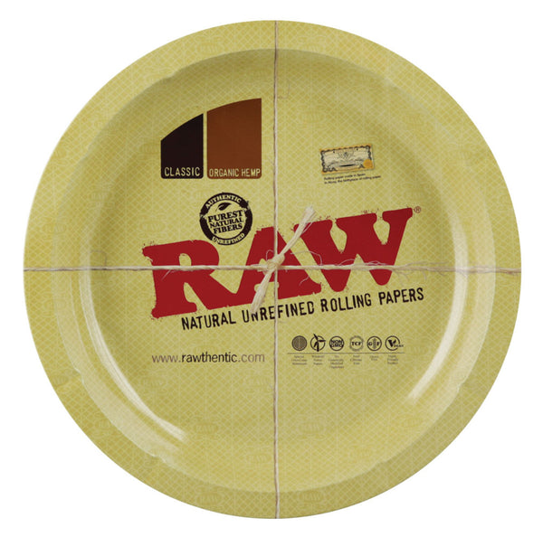 RAW Ash/Rolling Tray Metal Round