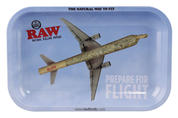 RAW Rolling Tray Prepare for Flight
