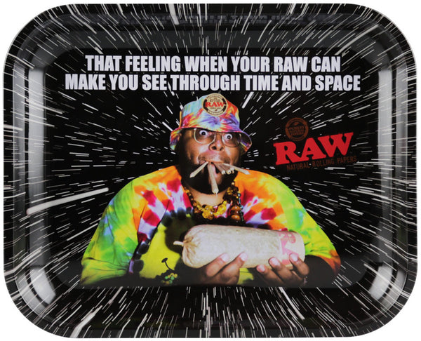"Raw Rolling Tray - Time & Space - 13.25""x10.75"""