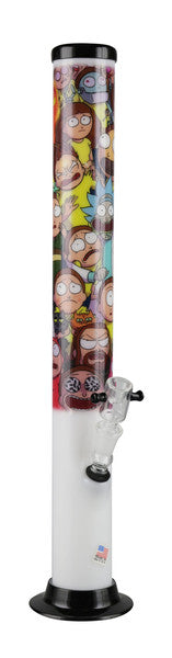 Rick & Morty 2 Acrylic Waterpipe - 15""