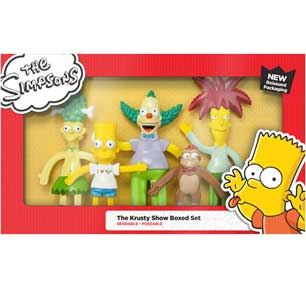 The Simpsons Krusty Show Boxed Doll Set