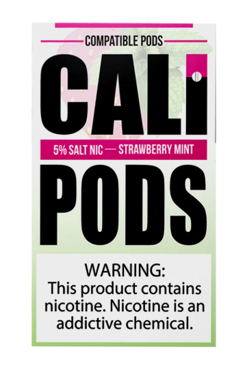 Cali Pods Nic Salt - 5% / Strawberry Mint