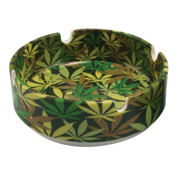 Hemp Leaf Camo Ashtray