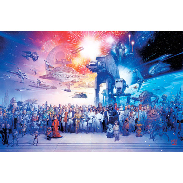 Star Wars Poster - Galaxy Poster