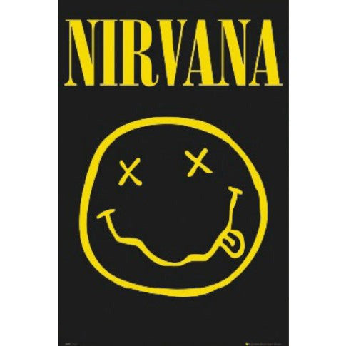 Nirvana Smiley Face Poster