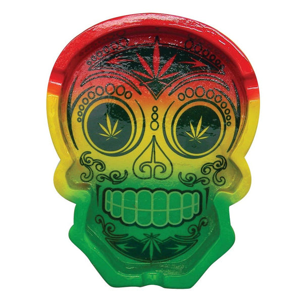 Day of the Dead Rasta Sugar Skull Ashtray