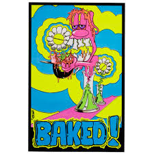 Baked! Blacklight Poster