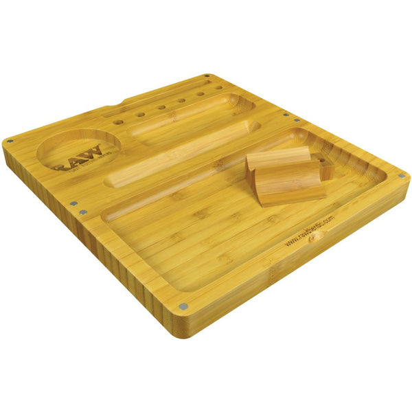 Raw Backflip Magnetic Bamboo Rolling Tray