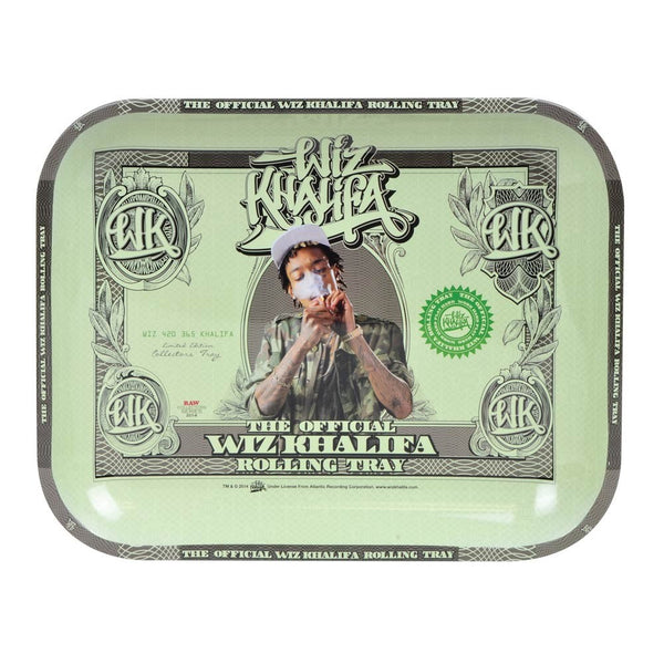 "Wiz Khalifa Aluminum Rolling Tray by Raw® - 10.75""x6.75"""