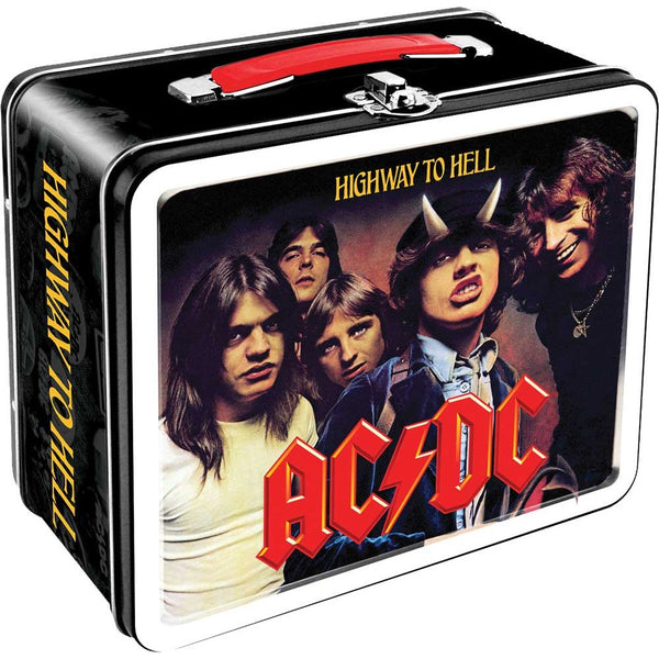 "7.75""x6.75"" AC/DC Metal Lunch Box"
