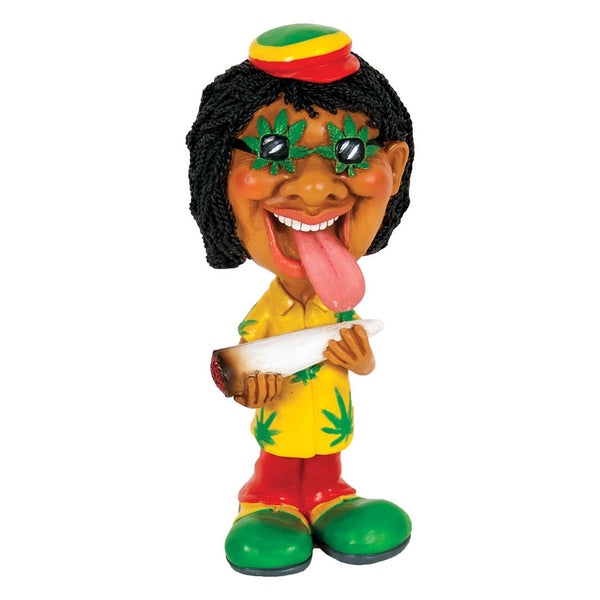"7"" Polyresin Rasta Man Bobble Head"