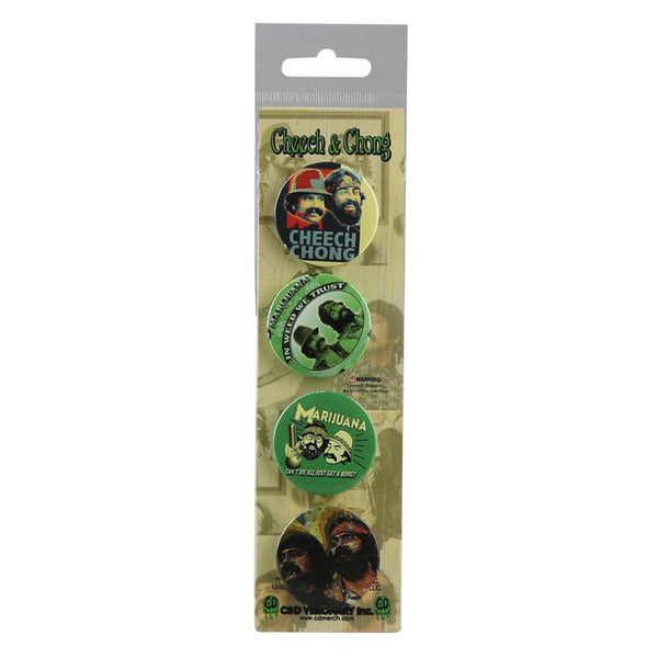 "4pc 1.5"" Cheech & Chong Assorted Button Set"