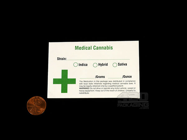 Pre Printed 3.5 x 2.25 Inch Medical Concentrates Envelopes