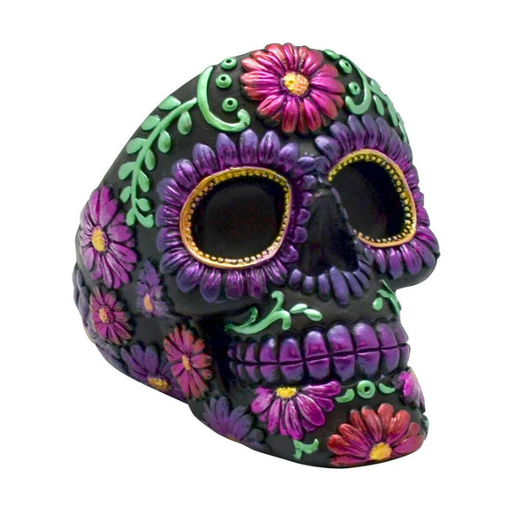Metallic Day of the Dead Ashtray - PolyResin