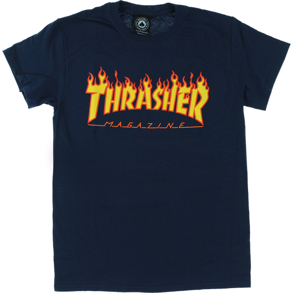 Thrasher Flame Logo T-shirt - Size MD