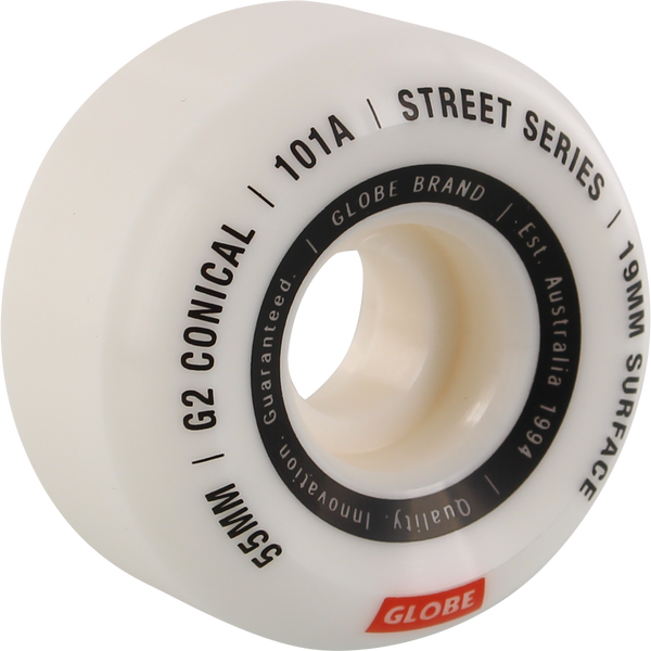 Globe G2 Conical Street 55Mm 101A White Wheels