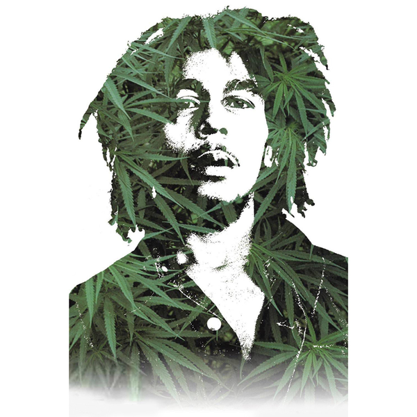 "Bob Marley Leaves Poster - 24""x 36"""