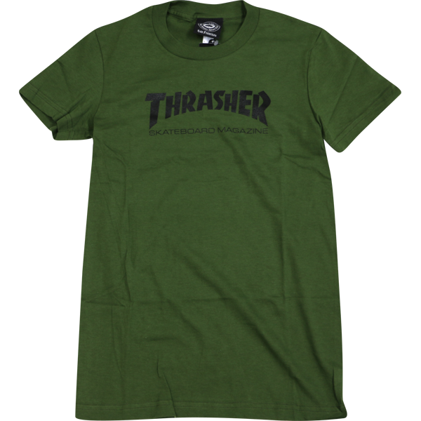 Thrasher Mag Logo Girls Ss -Army