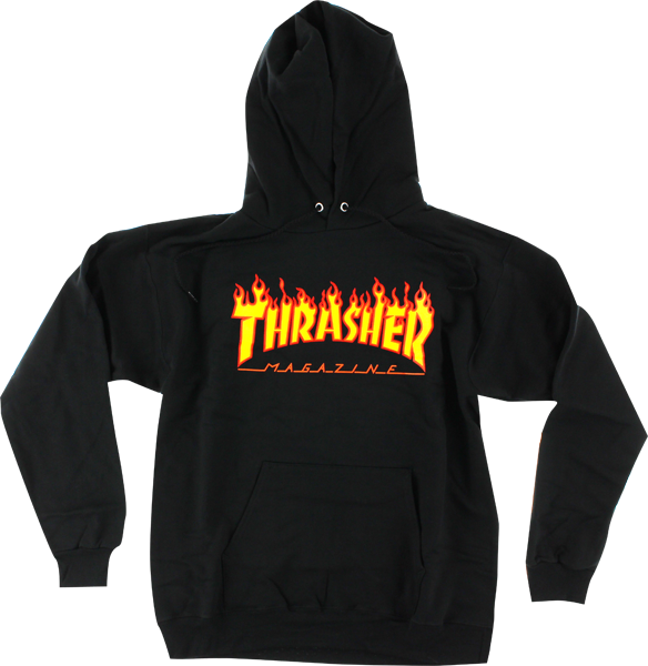 Thrasher Flames Hd/Swt xl-Black