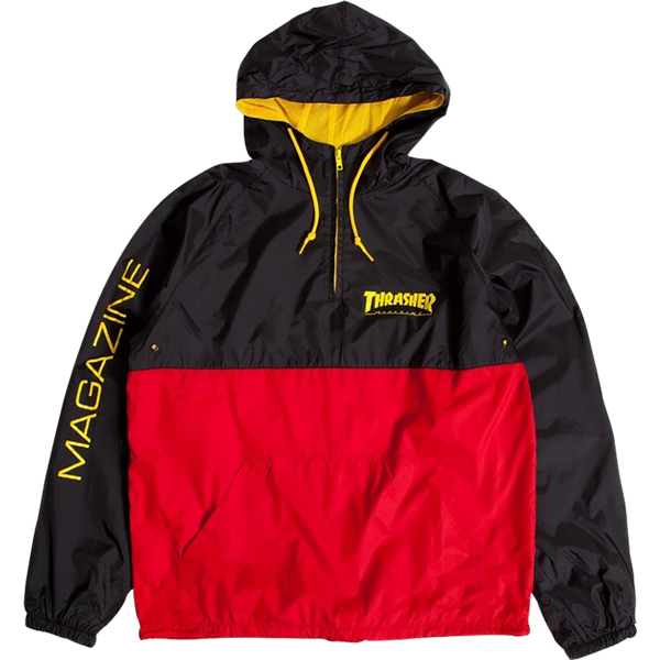 Thrasher Mag Logo Hooded Anorak l-Blk/Red/Yel