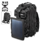 M48 Ops Tactical Solar Panel Backpack
