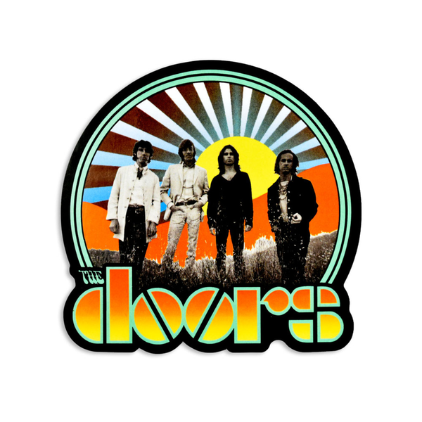 "The Doors Waiting for the Sun Homage Sticker - 4.5"" x 4.5"""