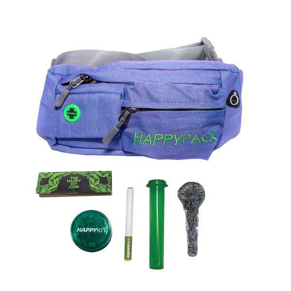 Happy Kit – Case, Storage, Grinder, Spoon, One Hitter, Papers and Tips