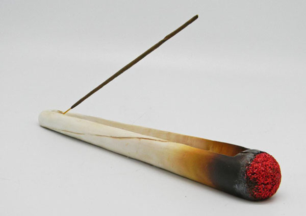 "10.5"" Burning Cigarette Incense Burner"