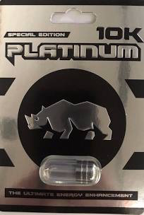 Platinum 10K Rhino New 24K Male Enhancement Silver Pill