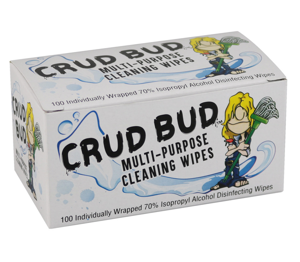 Crud Bud Multi-Purpose Cleaning Wipes - 100ct Single Packets
