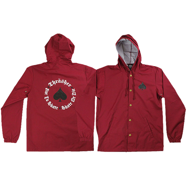 Thrasher New Oath Coach Jacket M-Cardinal Red/Blk
