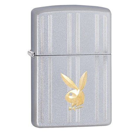 Zippo Satin Chrome Playmate Design Lighter