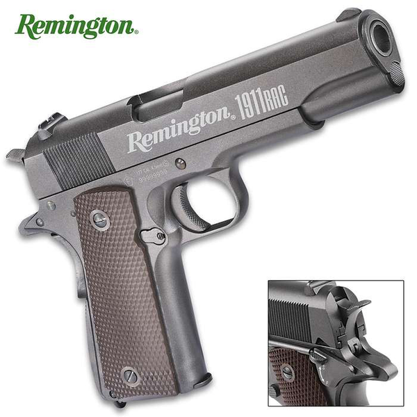 Remington 1911 Rac Air Pistol - Co2-Powered, Full-Metal Construction, Blowback Action