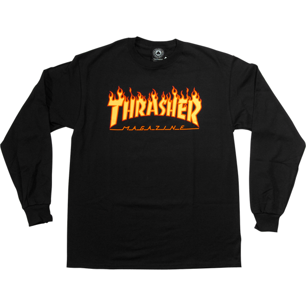 Thrasher Flame Long Sleeve T-shirt - Size XL
