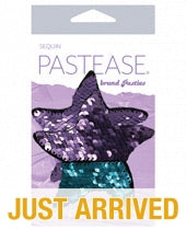Pastease Color Changing Flip Sequins Starfish - Purple/Turquoise O/S