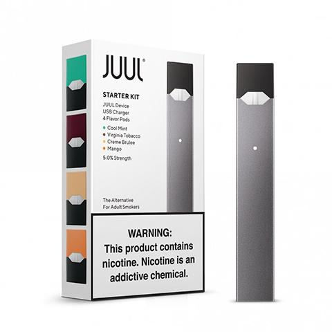 The JUUL Starter Kit Vaporizer w/ 4 Pods