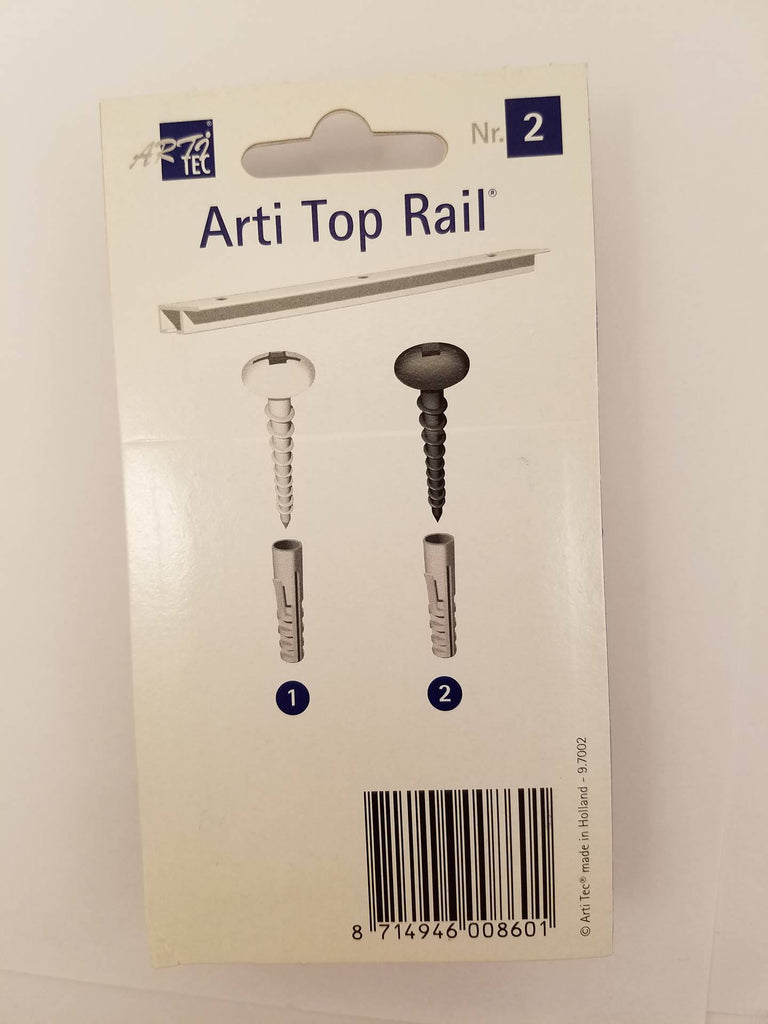 ADS Arti Black Screw and Anchor Set for Gallery Hanging Systems - ART DISPLAY SYSTEMS