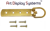 ADS Super Heavy Duty Extra Large Strap Hanger - 4 Hole Brass Plated D-Ring Hanger - 2 Pack