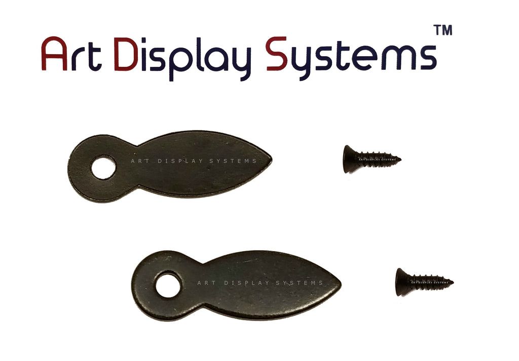 "ADS 1 Inch Flat BLK Turnbutton - 100 3-3/8"" Black Screws - 100 Pack - ART DISPLAY SYSTEMS"
