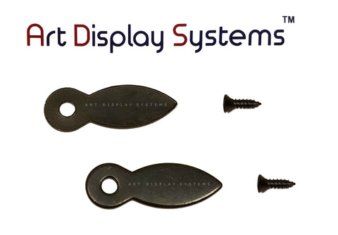 ADS 1 Hole Arrow Head ZP D-Ring Hanger with 6 1/2 Screws – Pro Quality – 100 Pack