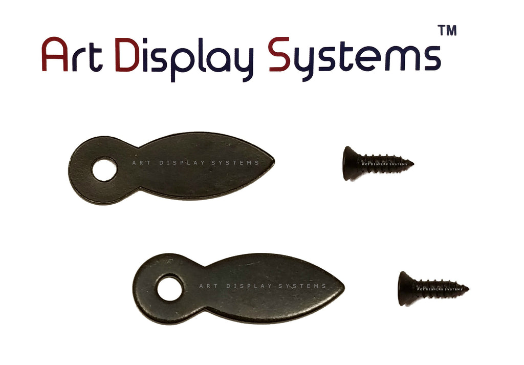 "ADS 1 Inch Flat BLK Turnbutton - 100 4-1/2"" Black Screws - 100 Pack - ART DISPLAY SYSTEMS"