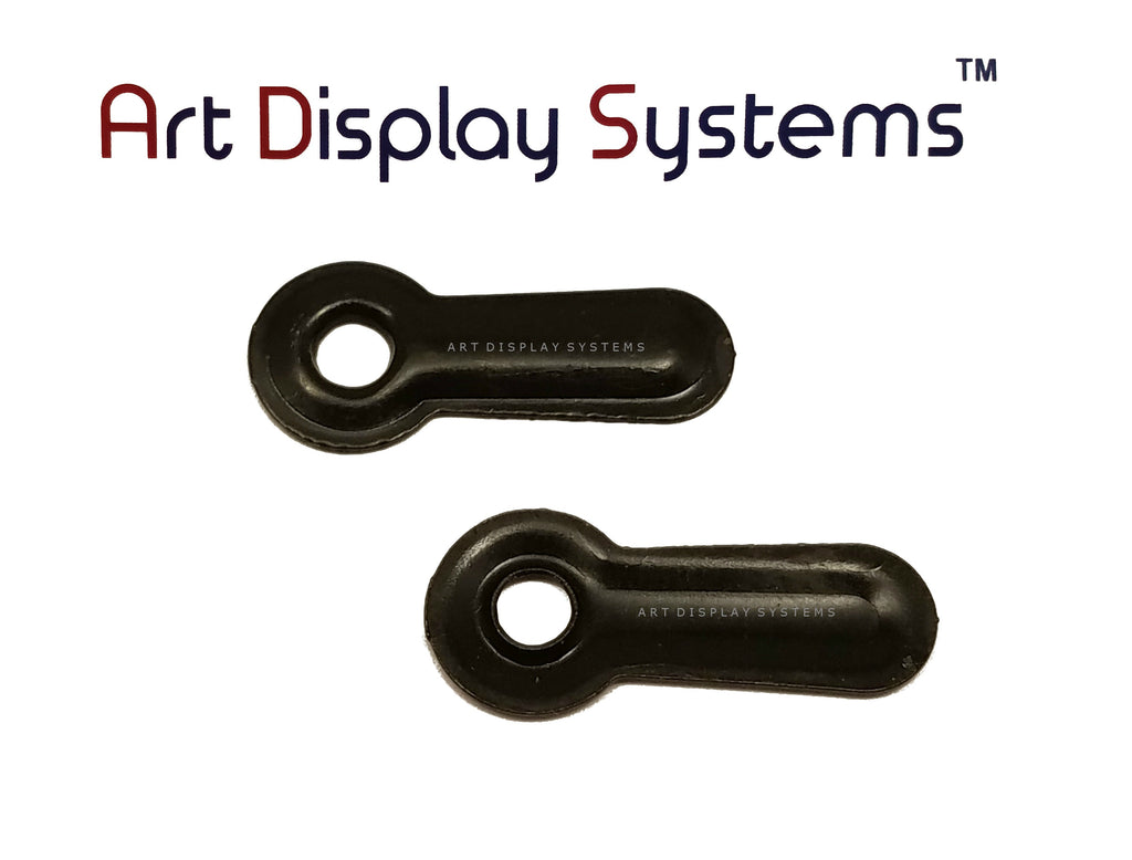 "ADS 1"" Inch Ridged BLK Turnbutton - No Screws - 100 Pack - ART DISPLAY SYSTEMS"