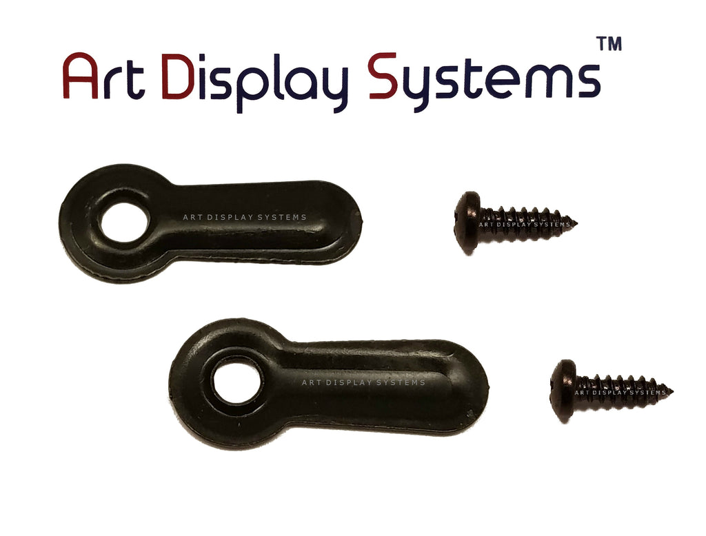 "ADS 1"" Inch Ridged BLK Turnbutton - 100 4-3/8"" Black Screws - 100 Pack - ART DISPLAY SYSTEMS"
