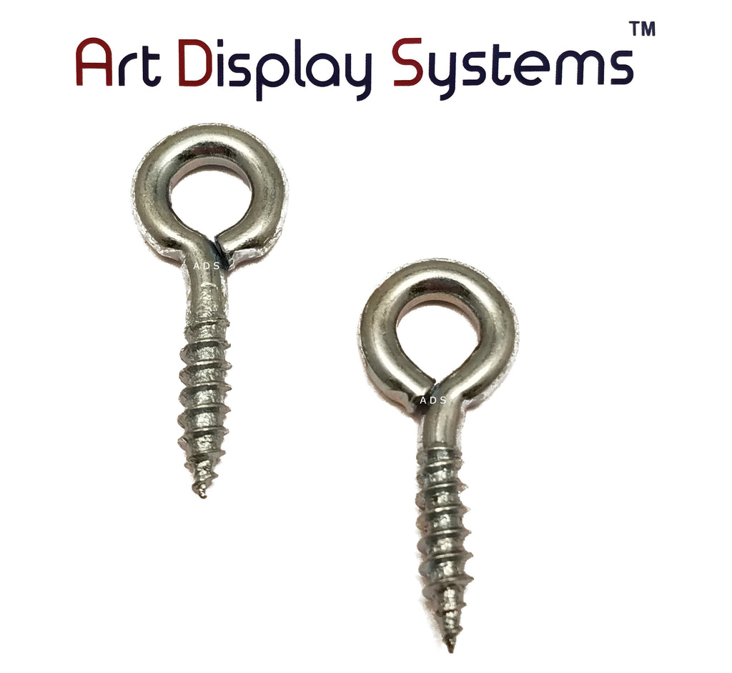 ADS 210 LS ZP Screw Eye - 100 Pack - ART DISPLAY SYSTEMS