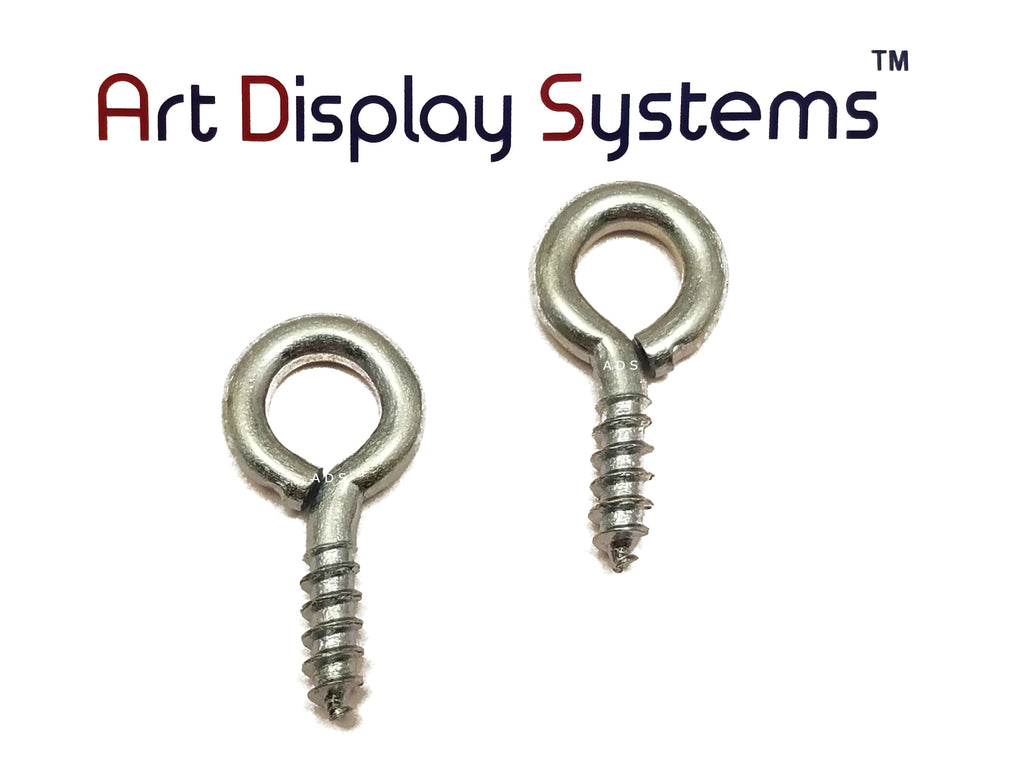 ADS 212-1/2 ZP Screw Eye - 100 Pack - ART DISPLAY SYSTEMS