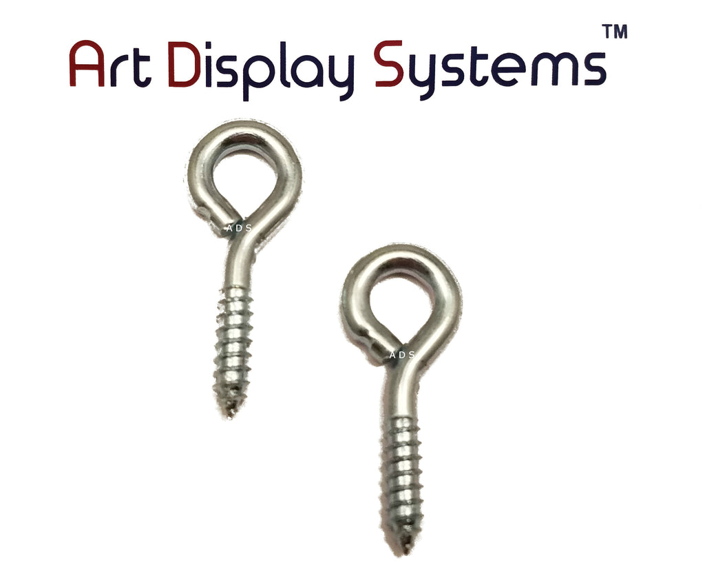 ADS 212 LS ZP Screw Eye - 50 Pack - ART DISPLAY SYSTEMS